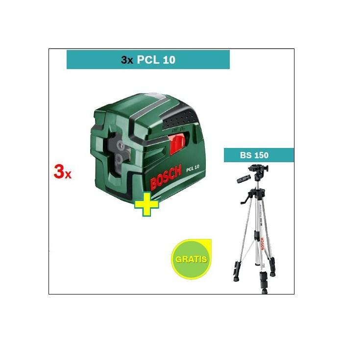 Laser za ukr tene linije bosch pcl 10 3 kom stativ bs for Niveau laser pcl 10