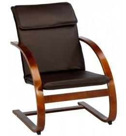 Fotelja Tune vešt. koža kafa