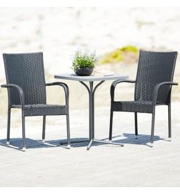 Baštenska garnitura Gud sa 2 stolice siva