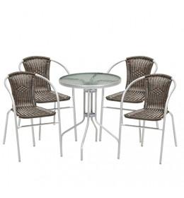 Baštenska garnitura Silver Line 4 stolice