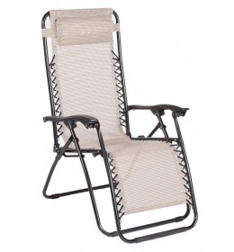 Baštenska stolica sa jastukom Messin bež/crna 029988