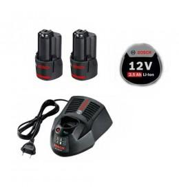 Bosch Starter set 2 x GBA 12 V 2.5 Ah + GAL 1230 CV Professional