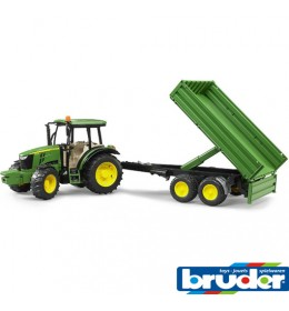 Bruder Traktor John Deere 5115M sa prikolicom