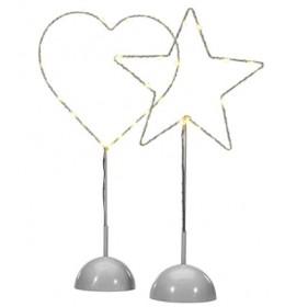 Dekoracija Star-heart LED