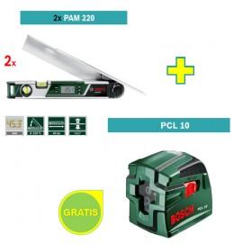 Digitalni merač uglova Bosch PAM 220 + Laser za ukrštene linije Bosch PCL 10 - Osnovno
