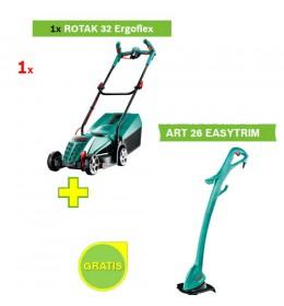 Električna kosilica za travu Bosch Rotak 32 ErgoFlex + Trimer Bosch ART 26 EASYTRIM Gratis
