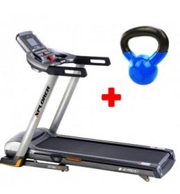 Traka za trčanje Xplorer B-PRO 6.1 + Kettlebell - girja 10 kg