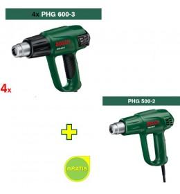 Fen za vreo vazduh Bosch PHG 600-3 IS 4 kom + Fen za vreo vazduh Bosch PHG 500-2