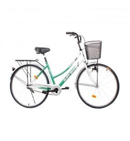 """Ženski gradski bicikl Glory Bike 26"""" nožna kočnica Zeleni"""