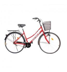 """Ženski gradski bicikl Glory Bike 26"""" nožna kočnica Crveni"""