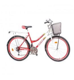 """Ženski gradski bicikl Glory Bike 26"""" Crveni"""
