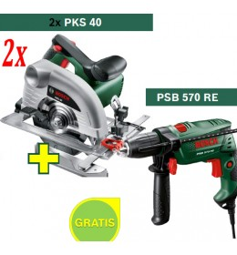 Kružna testera Bosch PKS 40 + Bušilica Bosch PSB 570 RE