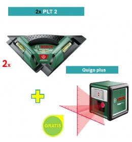 Laser za pločice Bosch PLT 2 + Laser za ukrštene linije Bosch Quigo 2