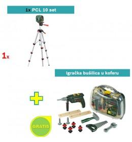 Laser za ukrštene linije Bosch PCL 10 Set + igračku bušilicu u koferu GRATIS
