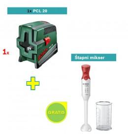 Laser za ukrštene linije Bosch PCL 20 + Bosch štapni mikser GRATIS