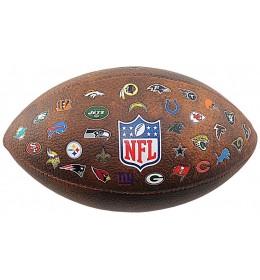Lopta za ragbi Wilson NFL 32 Team Logo