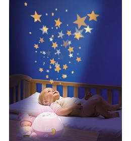 Muzička lampa projektor Uspavane zvezde Chicco roze