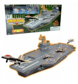 Nosač aviona Aircraft carrier w 4 metal fig