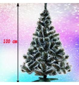 Gusta novogodišnja jelka Bor sa belim vrhovima 100 cm