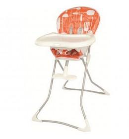 Stolica za hranjenje Graco Tea Time Utensils narandžasta