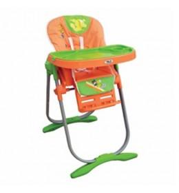 Stolica za hranjenje Puerri Lunch narandžasto-zelena