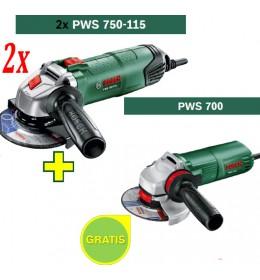 Ugaona brusilica Bosch PWS 750-115 + Ugaona brusilica Bosch PWS 700-115