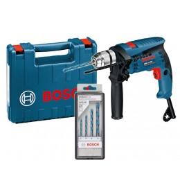 Vibraciona bušilica Bosch GSB 13 RE Professional + 4 kom Multi Construction setu standard koferu