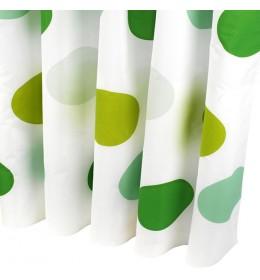 Zavesa za kadu GREEN CIRCLES 150 cm x 200 cm
