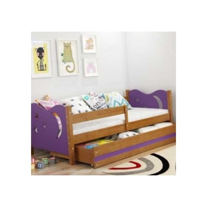 deciji kreveti 160x80 Dečiji Krevet Elegant Adler Ljubičasti 160x80 cm Sa Fiokom i  deciji kreveti 160x80