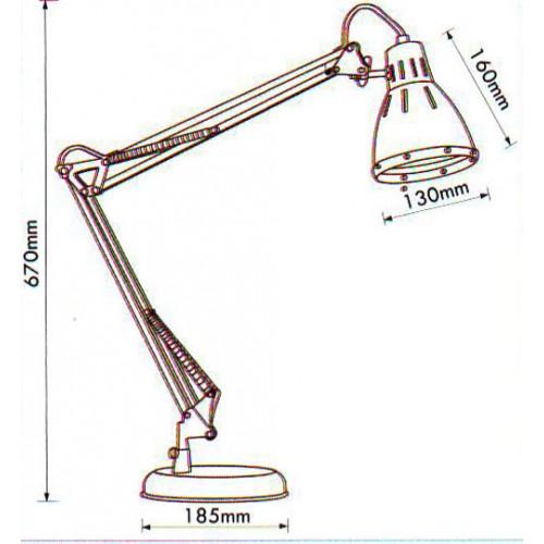 Stona tehnička lampa sa postoljem Elit EL7930 crvena