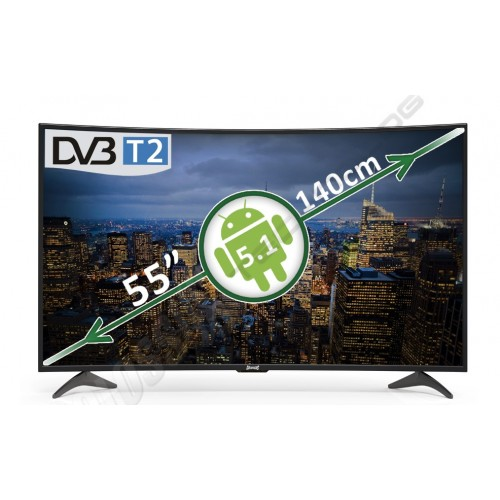"""4K Ultra HD curved smart LED TV 55"""" CSS-10100E  COLOSSUS"""