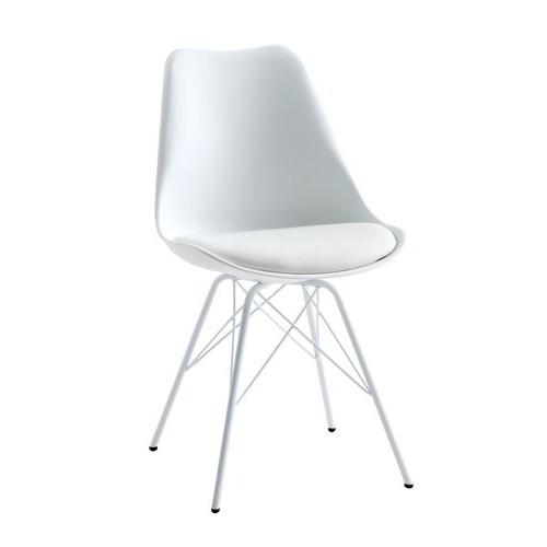 Trpezarijska stolica Kolle bela