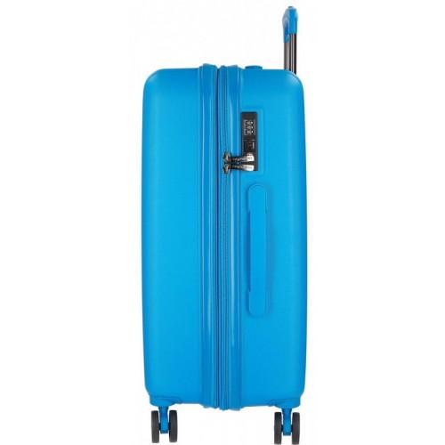 Set kofera Wood Movom Plava