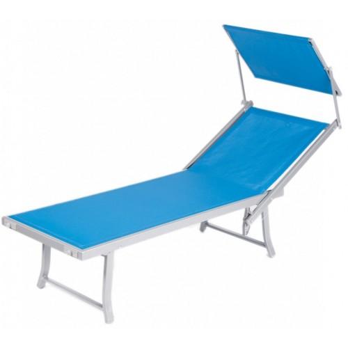 Ležaljka za plažu sa tendom plava Bali