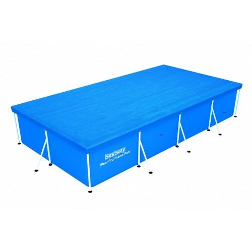 Pokrivač za metalne bazene 400x211 cm Besway