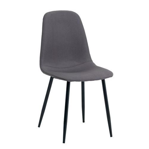 Trpezarijska stolica Uli siva/crna