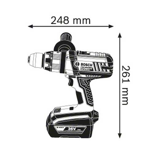 Akumulatorska vibraciona bušilica-odvrtač Bosch GSB 36 VE-2-LI Professional