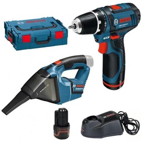 Aku bušilica Bosch Professional  GSR 10,8-2-LI+Aku usisivač Bosch GAS 12V
