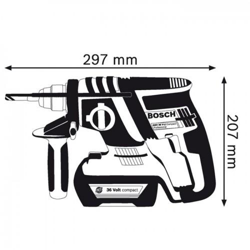 Akumulatorska hamer bušilica Bosch GBH 36 V-EC Compact Bosch GBH 36 V-EC Compac