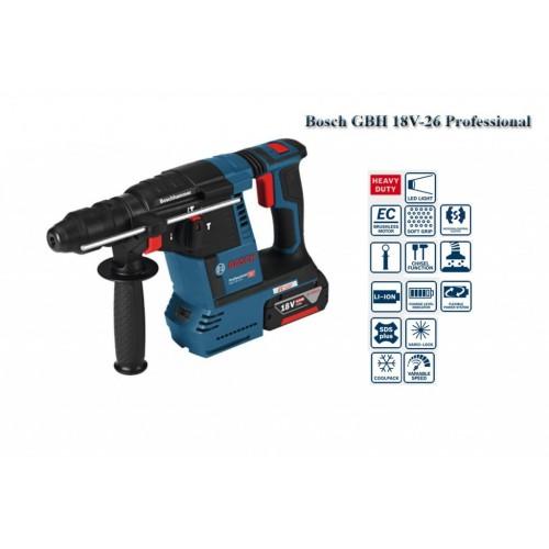 Akumulatorski elektro-pneumatski čekić Bosch GBH 18V-26 Professional