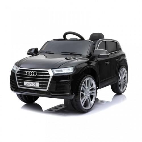 Dečiji automobil na akumulator Audi Q5 2019 sa kožnim sedištem i mekim gumama Crni