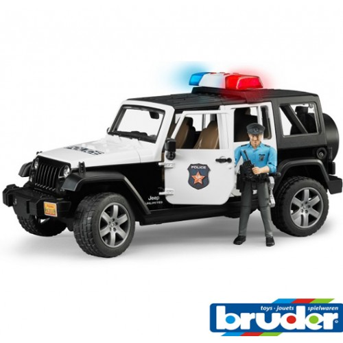 Autić Jeep Wrangler Unlimited Rubicon Police Car Bruder