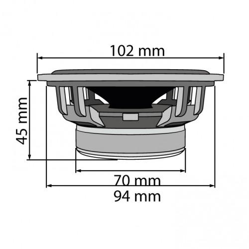 Auto zvučnici 102mm 2x55W