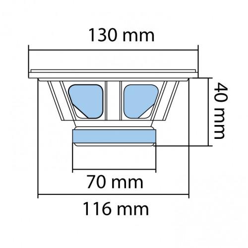 Auto zvučnici 130mm 2x50W