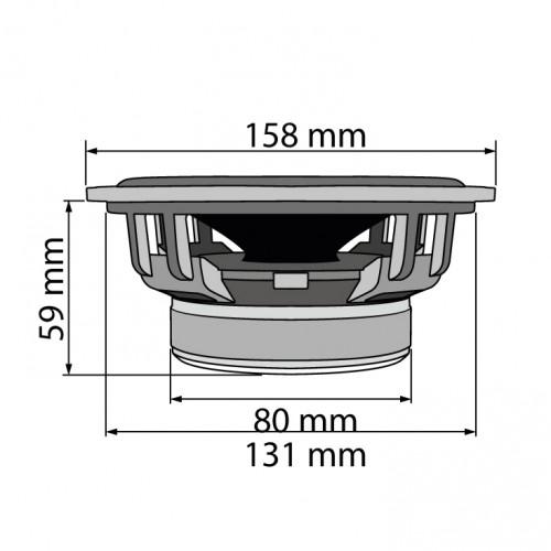 Auto zvučnici 165mm 2x100W