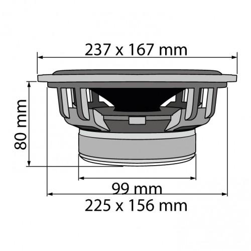 Auto zvučnici 230x165mm 2x120W