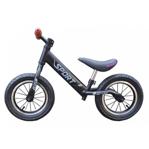 Balance Bike 751 Bicikl bez pedala za decu Crni