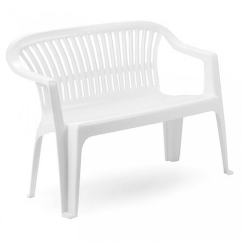 Baštenska klupa plastična Diva bela