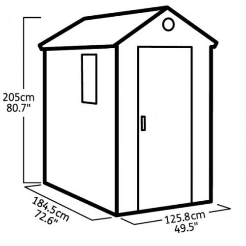 Baštenska kuća Darwin 4x6
