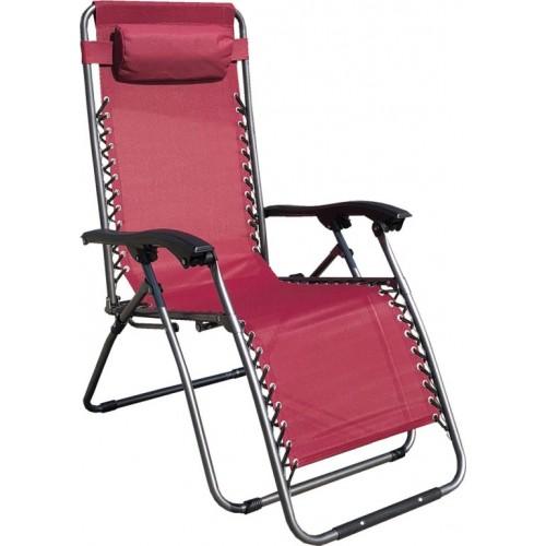 Baštenska podesiva stolica sa jastukom Messina Crvena